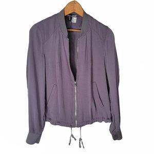 H&M Divided, Gray Bomber Jacket, size 6